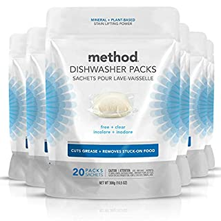 Method Smarty Dish Plus Dishwasher Detergent Packs, Lemon Mint, 45 Count