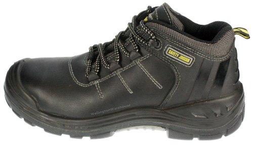 Chaussures Composite Et Lacets De S3 En À Métal Sécurité Noir Force2 Cuir Jogger Travail Coque U8qfxR