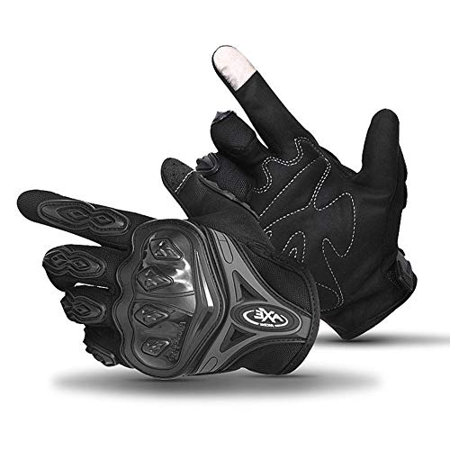 Bicycle Gloves Touch Screen Gloves - Cycling Gloves Full Finger Touch Screen Motorcycle Gloves Anti-Skid Anti-Shock,Great Riding Protection Tool (Black, M)