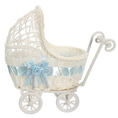 Baby Shower Centerpiece Stroller Wicker Carriage Baby Shower Favor Decoration -