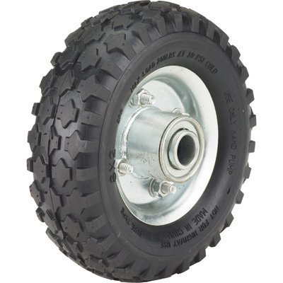 Ironton 6in. Pneumatic Wheel and Tire- 200-Lb. Capacity, Knobby Tread ()