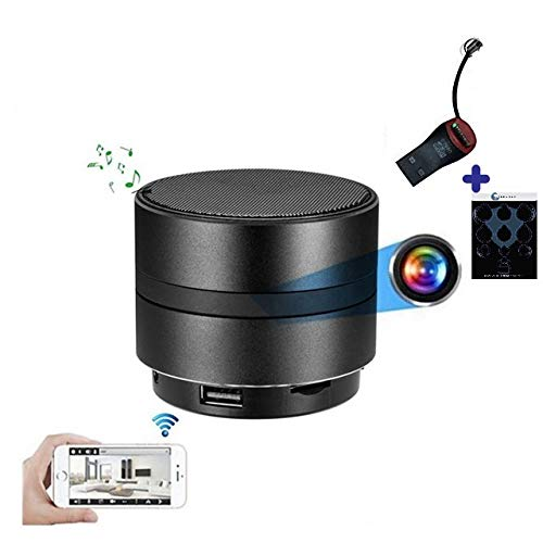 WiFi Bluetooth Speaker Camera | GEAGLE 1080P HD WiFi Hidden Spy Camera | External Memory | Motion Detection | Night Vision | Live Video | P2P/ WiFi