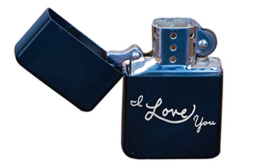 I Love You Flip Top Lighter, Awesome for Him or Her, Boyfriend Girlfriend Birthday, Smoker ()
