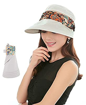 Women Sunhat UPF 50+ Summer Outdoor Wide Brim Sun Hats UV Protection Cap Neck Face Flap Hat for Women