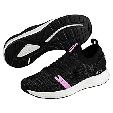 PUMA Women's NRGY Neko Engineer Knit WN's Athletic & Sports Shoes, Puma Black-Iron Gate-Orchid, 10 US