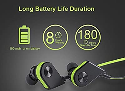 White - V8 Wireless Bluetooth Magnetic Earbuds, Stereo, Mic, Sweatproof, Noise Cancelling