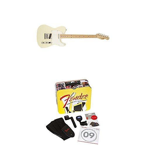 Squier by Fender Affinity Telecaster Beginner Electric Guitar - Arctic White with Accessories Kit -