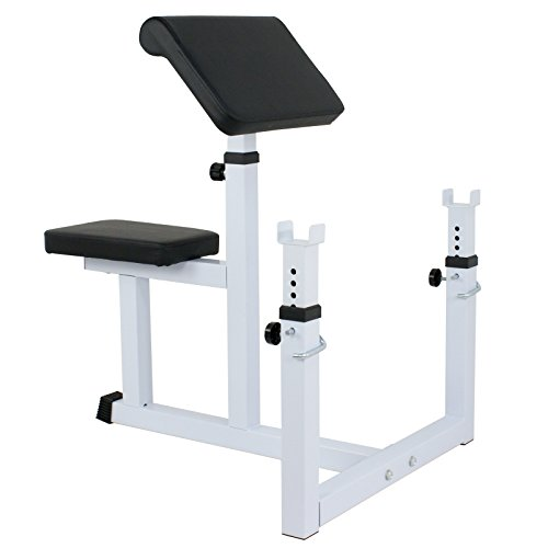 ZENY Preacher Curl Weight Bench Seated Preacher Isolated Dumbbell Biceps Training Station
