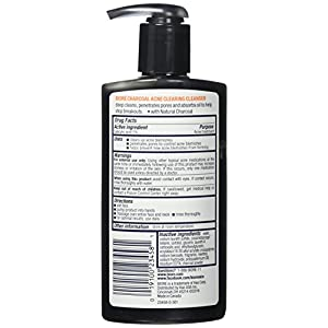 Biore Charcoal Acne Clearing Cleanser for Oily Skin, 6.77 Ounces