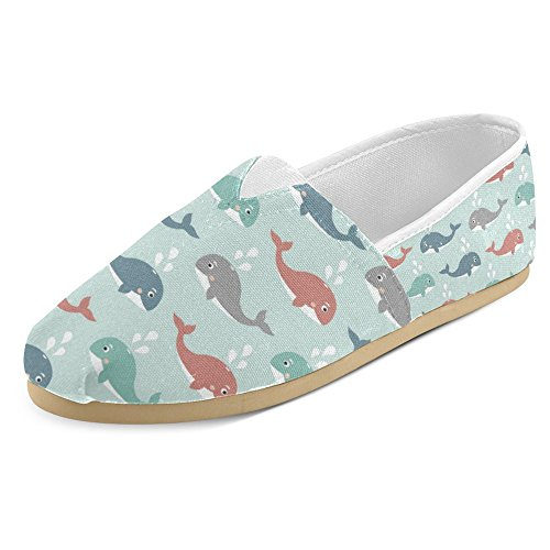 Interestprint Womens Loafers Klassiska Avslappnade Duk Slip På Mode Skor Gymnastikskor Lägenheter Multi 31