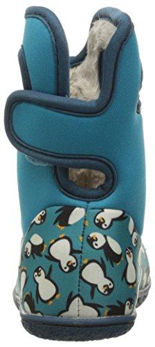 Bogs - botas Wellington con asa para tirar y cierre de velcro–Rosa/Multi–varias tallas disponibles Classic Penguins Turquoise Multi