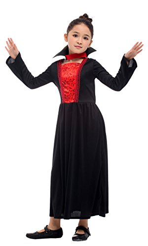 Seipe Halloween Girl Role-Play Dress Play Vampire Costumes Performance Long Dresses