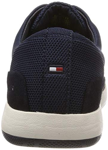 Para Cordones Material Zapatos Tommy Hombre Shoe Mix 403 Hilfiger De Azul Lace midnight Up Light Oxford PzCpzq