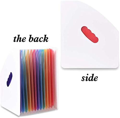 Haudang Erweitern Des Ordners für Dateihalter Stehend A4 Vertical File Organizer Magazine Korb Desktop 13 Taschen File Halter