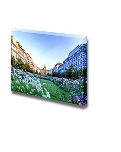 Beautiful Scenery Landscape Wenceslas Square in Prague in Central Europe Wall Decor ation
