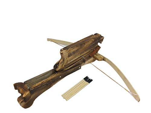 Children's Wood Toy Repeating Crossbow with Six Darts.
