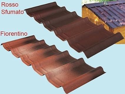 Placas onduladas para revestimiento de tejado, 107 x 40 cm: Amazon.es: Hogar