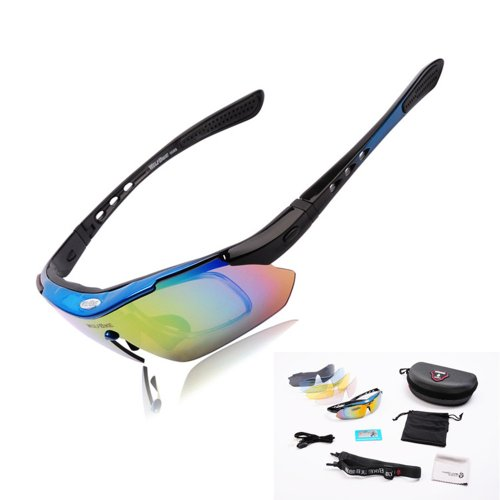 WOLFBIKE Polarised Cycling Sunglasses Bicycle Bike Running Riding Sun - Polarised Glasses Sun