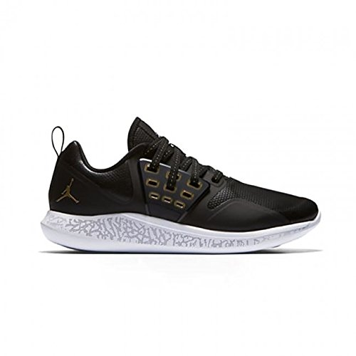 Jordan Nike Air Grind Mens Running Trainers AA4302 Sneakers Shoes (UK 10 US 11 EU 45, Black Metallic Gold White 031)