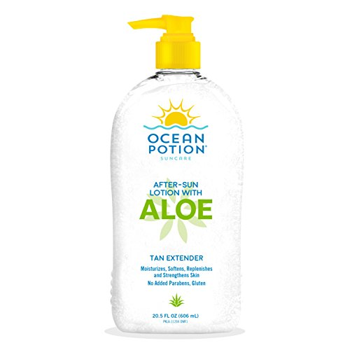 Ocean Potion After Sun Lotion with Aloe Tan Extender, 20.5 Ounce Bottle, Pack of - Mall Ocean