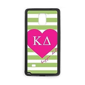 Samsung Galaxy Note 4 Cell Phone Case Black_Kappa Delta Green Stripes Qkuuq