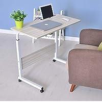 S-PLUS Mobile Laptop Desk Computer Table Stand Adjustable Sit Stand Desk Wooden Bed Bedside Portable Sofa Bedroom Study…