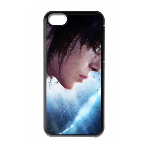 Y9R31 delà de deux âmes I2L6FJ cas d'coque iPhone de téléphone cellulaire 5c couvercle coque noire KM6YHL6RJ