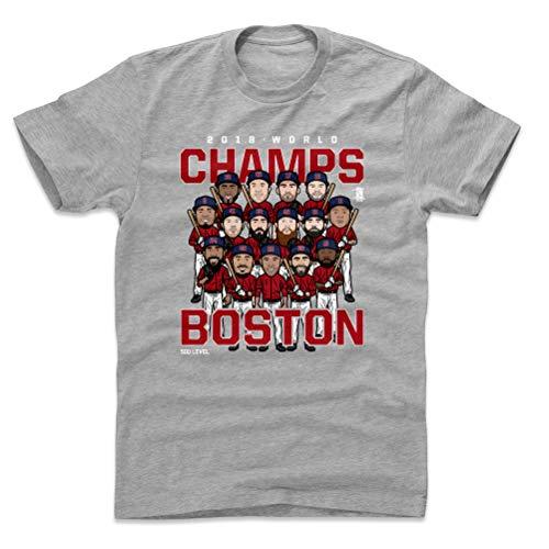 500 LEVEL Boston Baseball World Series Cotton Shirt Large Heather Gray - Boston Baseball 2018 World Champs WHT