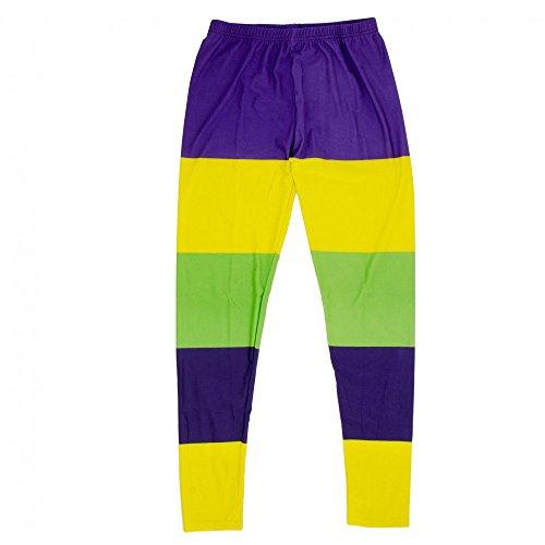 Boolala Mardi Gras Color-Block Leggings]()