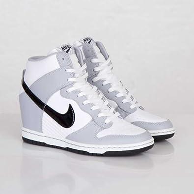 Nike Women s Dunk Sky Hi White Grey Wedge Trainer Size 4.5 UK ... e4386ef9ec68