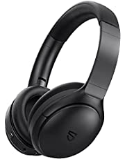 Bluetooth Headphones, SoundPEATS A6 Hybrid Active Noise Cancelling Headphones, Bluetooth Earphones Over-Ear Headphones, 38 Hours Playtime(ANC Off), USB-C Charge, Foldable Design with Ergonomic Headband, Memory Foam Earcups, Multi-point Rotation