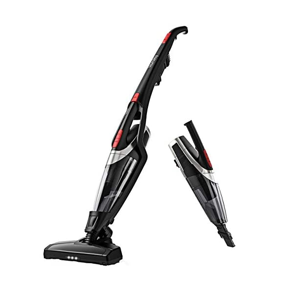 Homasy Cordless Vacuum Cleaner, 2-in-1 Stick and Handheld Vacuum Cleaner with Super...