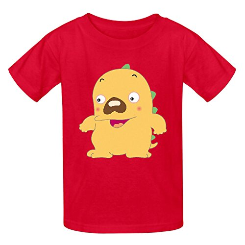 Snowl Son Of Godzilla Youth Crew Neck Graphic T Shirts Red