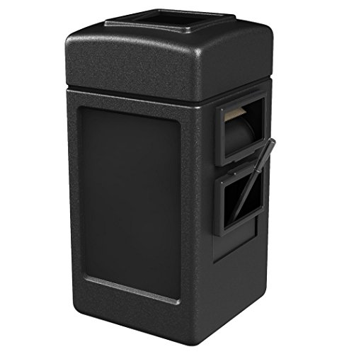 (STS SUPPLIES LTD Outside Trashcan Waste Container Bin Large Garbage Plastic Outdoor with Open Lid Tall Windshield Washer Trash Holder Unit & Ebook by AllTim3Shopping.)