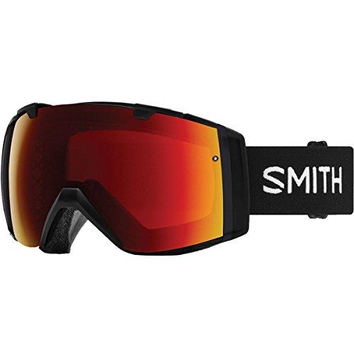 - Smith Optics I/O Adult Snow Goggles - Black/Chromapop Sun Red Mirror