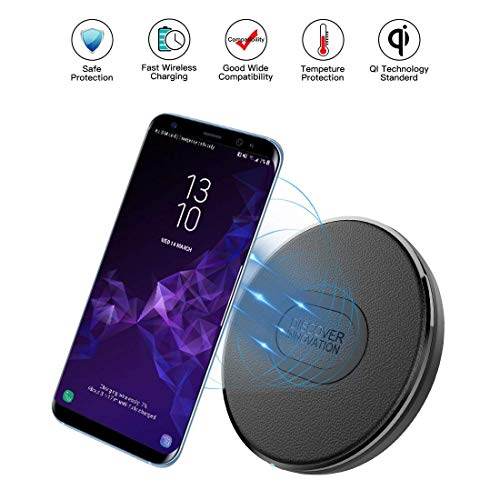Wireless Charger Elfmic Qi Certified Wireless Fast Charger Charging Pad with Anti-Slip Pad for Samsung Galaxy S9//S9+//S8//S8+//S7//S7 Edge//Note 8//5 iPhone 11 X Xs Max iPhone 8//8Plus and QI-Enabled Device