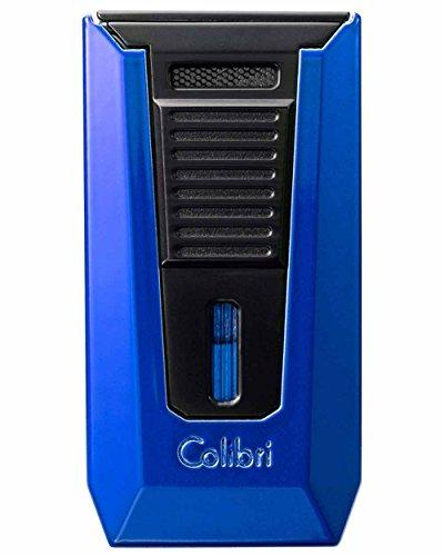 Colibri Lighter - Slide Double-Jet Flame w/ Punch (Blue & Black) -