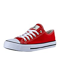 Shinmax Canvas shoes Unisex Low Cuts Canvas- Season Lace Ups Shoes Casual Trainers for Men and Women