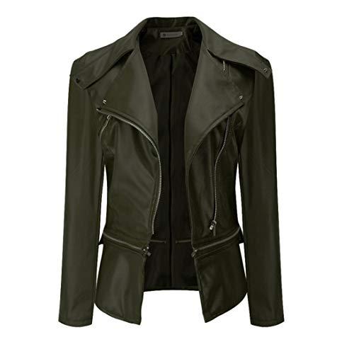 Cheap Jacket Short Parka Cardigan Faux Leather Coat