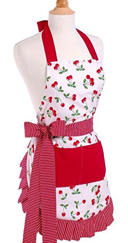 Flirty Aprons Women's Original Very Cherry Apron