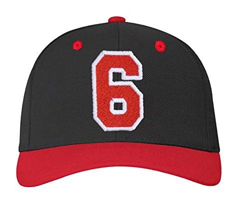 blanco Z a 6 4sold carta y A nbsp;Números gorra rojo 23 en con color ABC negro letras RZ6xRn