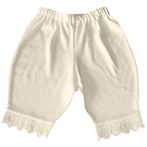 Antique Cotton Lace (Victorian Organics Little Girls Bloomers Organic Cotton and Lace Toddler Short Pant (2T 2 toddler, Antique White))
