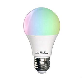 Bombillas inteligentes WiFi, control de voz, luz LED RGB de ahorro de energía,