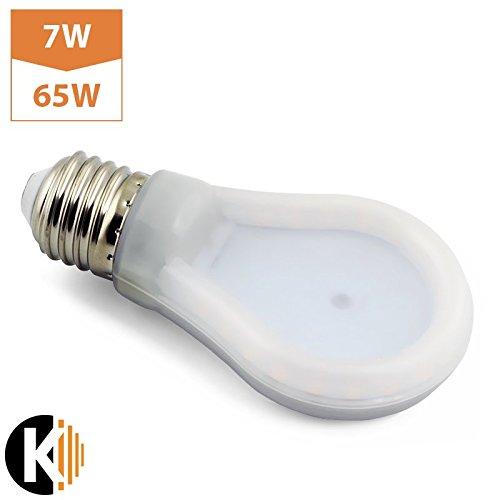 E27 A60 7 W LED Bombilla de bajo consumo plana slim – equivalente a 65 W