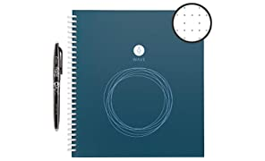 "Rocketbook Wave Smart Notebook - Dotted Grid Eco-Friendly Notebook with 1 Pilot Frixion Pen Included - Standard Size (8.5"" x 9.5"")"
