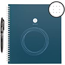 """Rocketbook Wave Smart Notebook - Dotted Grid Eco-Friendly Notebook with 1 Pilot Frixion Pen Included - Standard Size (8.5"""" x 9.5"""")"""