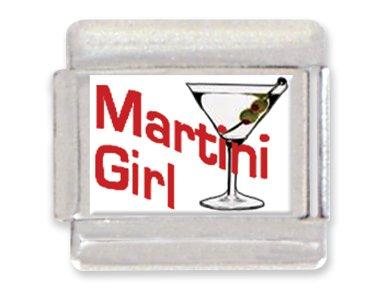 - Martini Girl Italian Charm Bracelet Link