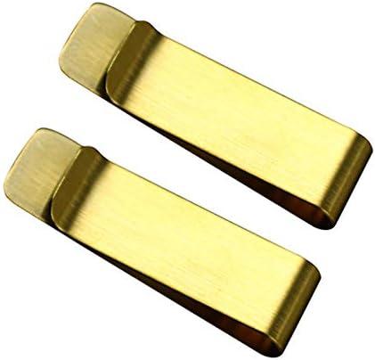 Dosige 2 St/ück Geldscheinklammer Edelstahl Geldklammern Money Clip 5x1.5x0.08cm Gold