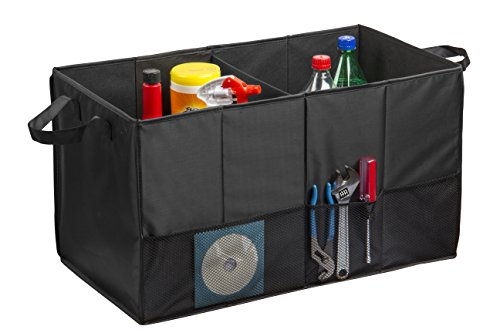 (Auto Trunk Organizer, Multipurpose Folding Trunk Storage Organizer, Collapsible Car Organizer, Sturdy Organizer For Car, SUV, Van, and Truck With Dual Handles And Stiff Base Plates For Bottom Support)