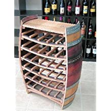 """Whole Barrel Wine Rack with Counter Top, Holds up to 36 Bottles, 36""""H X 26""""W X 10""""D"""